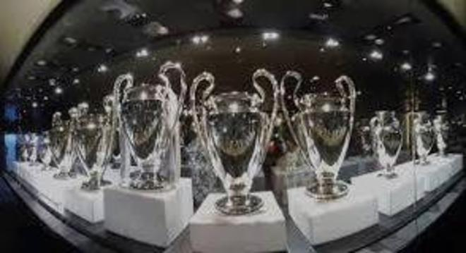 As taças da CL, no Museu do Real Madrid
