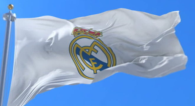 A bandeira do Real Madrid