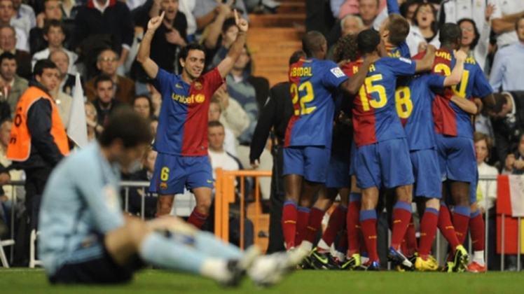 Real Madrid 2 x 6 Barcelona - 2 de maio de 2009 - Campeonato Espanhol - Estádio Santiago Bernabéu