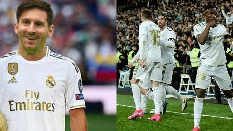 Real Madrid - Courtois, Carvajal, Varane, Éder Militão, Mendy; Casemiro, Modric, Kroos, Messi, Hazard e Benzema. Técnico: Zinédine Zidane.