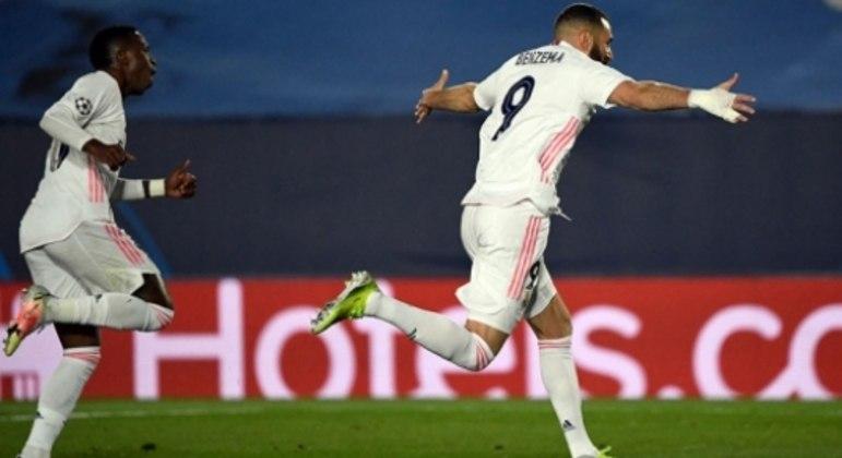 Real Madrid x Atalanta - Comemoração Benzema