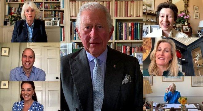 Realeza sênior do Reino Unido fez chamadas em vídeo com profissionais de saúde