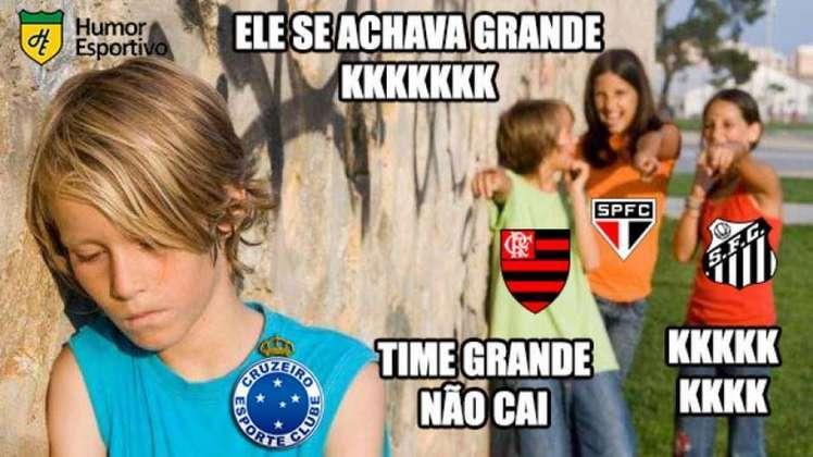 Rebaixamento do Cruzeiro: após passar anos tirando onda que nunca havia caído, o clube mineiro sofreu com zoações ao terminar o Brasileirão 2019 no Z4.