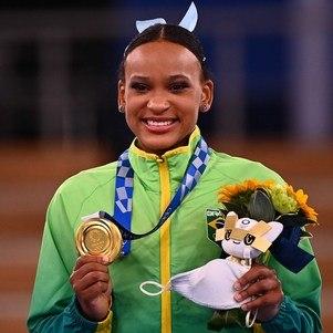 Rebeca Andrade ganhou a medalha de ouro