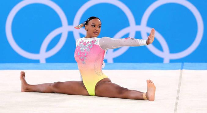 Rebeca Andrade ficou em 5º lugar na final do solo