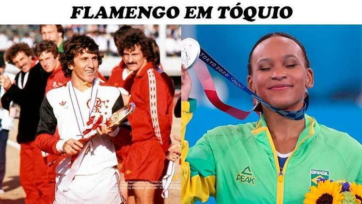 Rebeca Andrade levou os rubro-negros à loucura com as medalhas conquistadas em Tóquio. Atleta do Flamengo, ela retorna dos jogos com um ouro e uma prata.