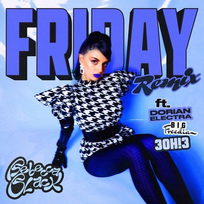 Capa do remix de 'Friday' com Dorian Electra, Big Freedia e 3OH!3