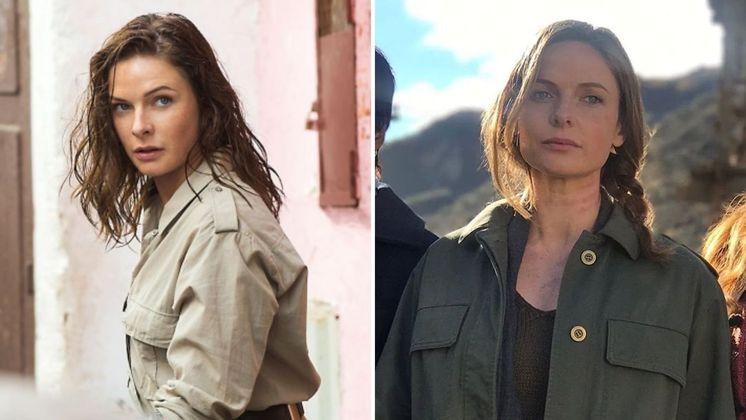 Rebecca Ferguson entrou no filme apenas em 2015, em Missão: Impossível - Nação Secreta, mas volta às telonas na sétima produção do longa. Com 3 anos de diferença entre as fotos, a única mudança visível é a cor do cabelo