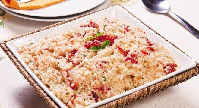 Receita de risoto de tomate seco