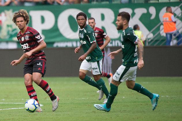 Receita total em 2019: R$ 950 milhões do Flamengo e R$ 642 milhões do Palmeiras.