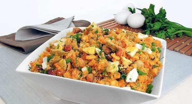 receitas de farofa de cenoura e milho