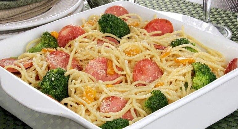receitas de macarrão com legumes