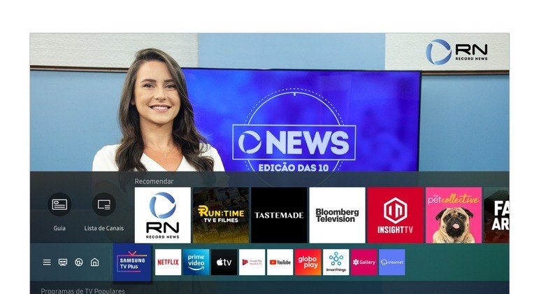 Emissora está presente em catálogo gratuito da plataforma Samsung TV Plus