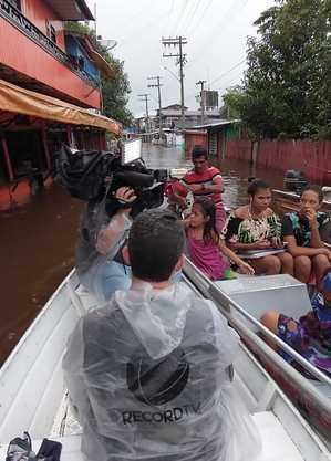 Equipe da Record no Amazonas