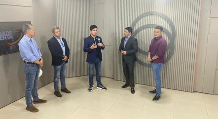 Visita a emissora Real TV, em  Sinop/MT