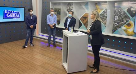Visita a emissora TV Sorriso, em Sorriso/MT