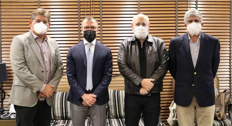 Wagner Martins, Pietro Labriola, Luiz Cláudio Costa e Reynaldo Figueiredo