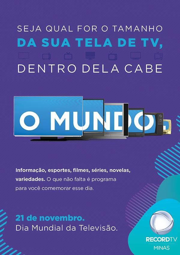 Divulgação  Record TV Minas