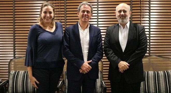 Janaina Vilella, Nicola Cotugno e Luiz Cláudio Costa