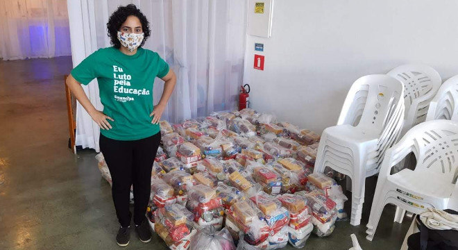 Valor arrecadado na terceira etapa da campanha prevê a compra de cestas básicas