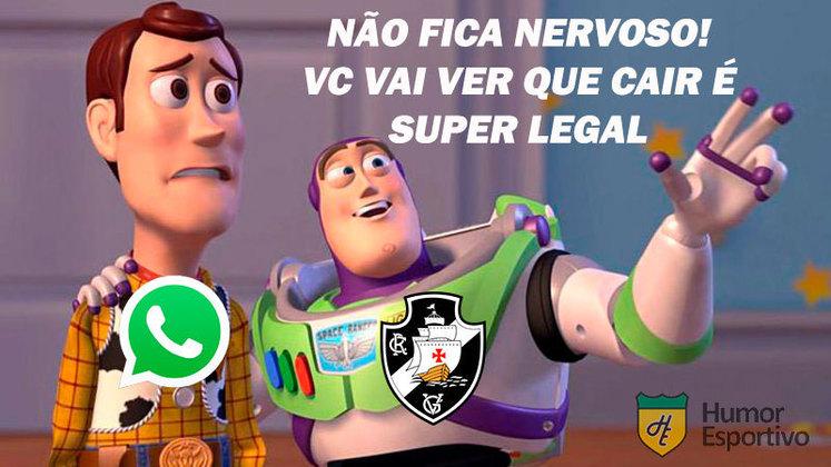 Redes sociais apresentaram instabilidade de tarde desta sexta-feira e rebaixamentos de grandes clubes do futebol brasileiro foram lembrados. Veja na galeria! (Por Humor Esportivo)