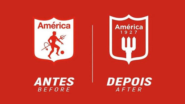 Redesenho de escudos de futebol: América de Cali