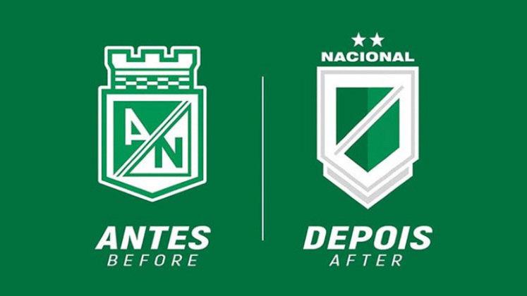 Redesenho de escudos de futebol: Atletico Nacional
