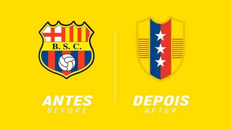 Redesenho de escudos de futebol: Barcelona de Guayaquil