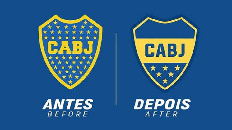Redesenho de escudos de futebol: Boca Juniors