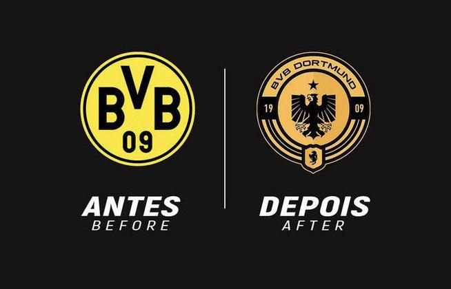 Redesenho de escudos de futebol: Borussia Dortmund