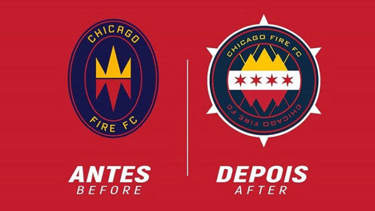 Redesenho de escudos de futebol: Chicago Fire