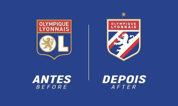 Redesenho de escudos de futebol: Lyon