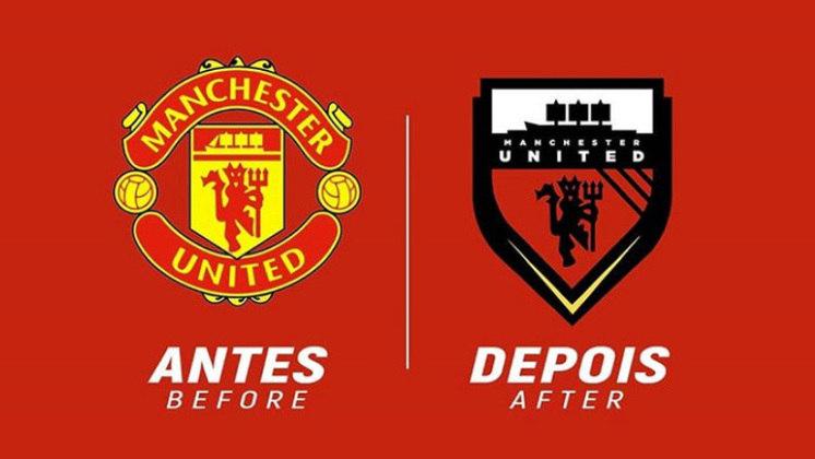 Redesenho de escudos de futebol: Manchester United