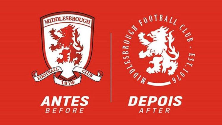 Redesenho de escudos de futebol: Middlesbrough