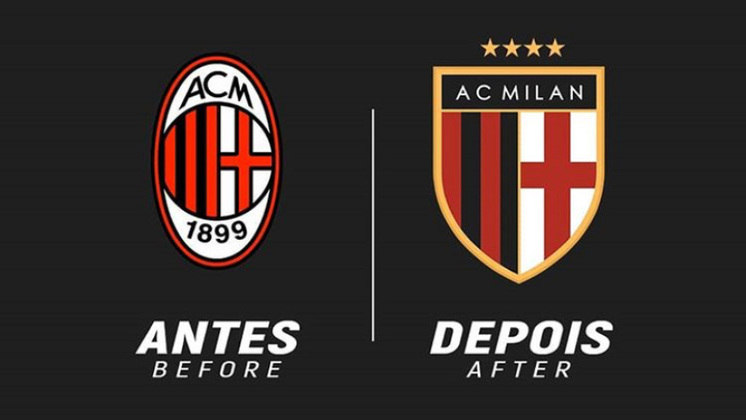Redesenho de escudos de futebol: Milan
