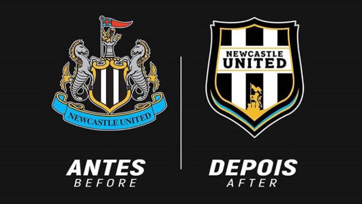 Redesenho de escudos de futebol: Newcastle