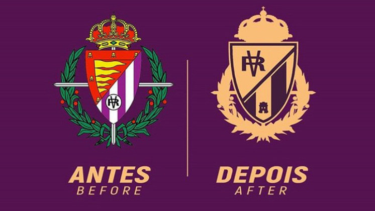 Redesenho de escudos de futebol: Real Valladolid