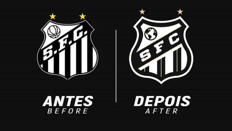 Redesenho de escudos de futebol: Santos