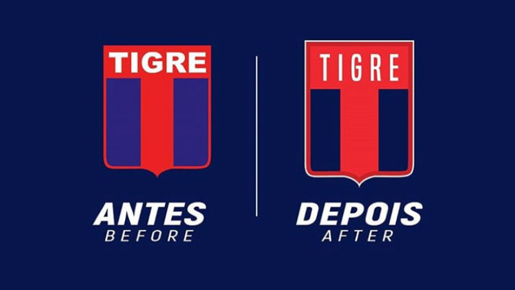 Redesenho de escudos de futebol: Tigre