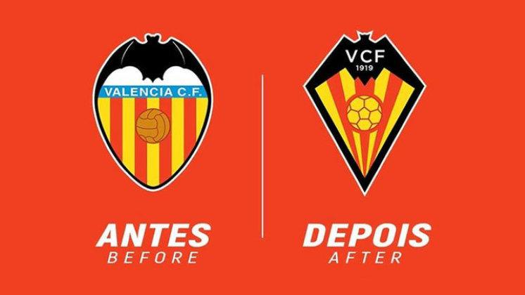 Redesenho de escudos de futebol: Valencia