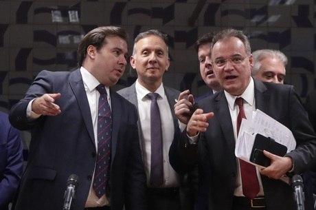 Rodrigo Maia,  Aguinaldo Ribeiro  e Samuel Moreira