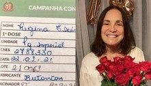 Regina Duarte é vacinada contra covid após questionar imunizantes