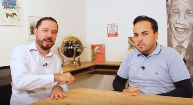 Reginaldo Pereira e Leonardo Stringher, especialista em TI