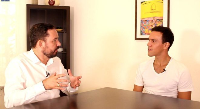 Reginaldo Pereira e o empreendedor Caio Jahara