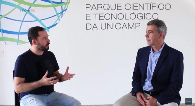 Reginaldo Pereira entrevista Newton Frateschi, da Agência Inova, da Unicamp