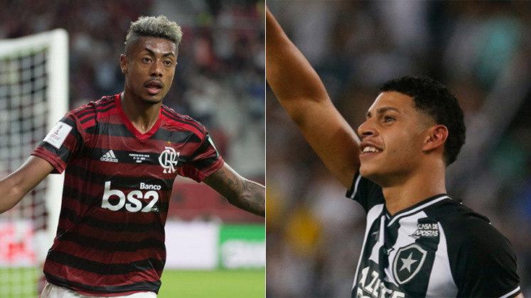 Rei da América: Bruno Henrique, destaque do Flamengo, venceu a concorrência de Luís Henrique, promissor jovem revelado no Botafogo.