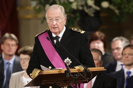 Rei aposentado da Bélgica Albert II em Bruxelas