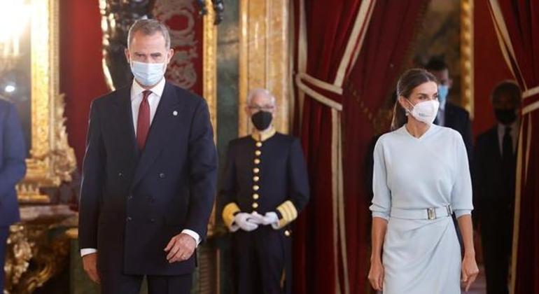 Rei da Espanha, Felipe VI, e a rainha Letizia