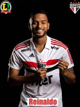 REINALDO - 6,5: Como sempre, apoiou bastante e foi válvula de escape do ataque são-paulino. Deu assistência para Brenner. Tirou uma chance clara do Fluminense.