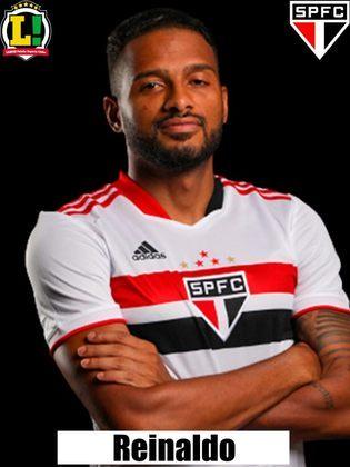 Reinaldo - 7,0 - Fez o gol da equipe. O lateral não teve uma atuação muito boa e, defensivamente, deixou a desejar, mas o gol de empate na partida pesa na avaliação.